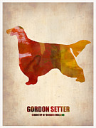 Colorful Art. Prints - Gordon Setter Poster 1 Print by Irina  March