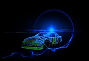 Sprint Cup Digital Art Posters - Gordon Under Light Poster by Nick Bergstrom