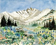 Gore Range Prints - Gore Range 2 Print by Patty  Frierson