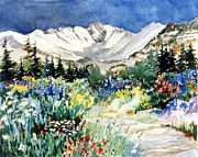 Gore Range Prints - Gore Range Trail Print by Patty  Frierson