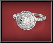 Featured Jewelry - Gorgeous Flower Diamond 14k White Gold Engagement Ring by Roi Avidar