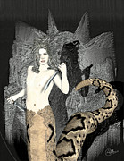 Gorgon Medusa Print by Joaquin Abella Ojeda