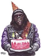 Gorilla Party Print by Mark Tavares