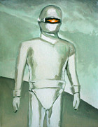 1950 Movies Paintings - Gort From The Day The Earth Stood Still by Paul Mitchell