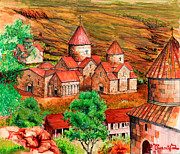 Armenian Paintings - Goshavank by Toros Zaroukian