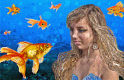 Mermaids Digital Art - Gossip by Jane Schnetlage
