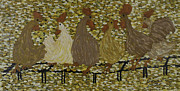 Buddies Paintings - Gossiping Chickens by Kurt Olson