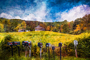 Autumn Scenes Metal Prints - Got Mail? Metal Print by Debra and Dave Vanderlaan