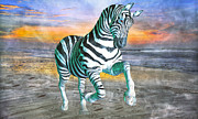 Run Mixed Media - Got My Stripes by Betsy A Cutler East Coast Barrier Islands
