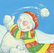 Snowball Paintings - Gotcha by David Cooke