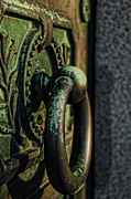 Entrance Door Photos - GOTH - Crypt Door Knocker by Paul Ward