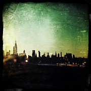 Nyc Digital Art Metal Prints - Gotham Grunge Metal Print by Natasha Marco