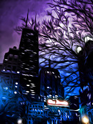 Neon Digital Art - Gotham by Scott Norris