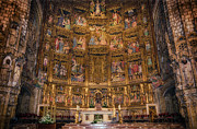 Crucifixion Photos - Gothic Altar Screen by Joan Carroll