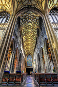 Saint Digital Art Metal Prints - Gothic Architecture Metal Print by Adrian Evans