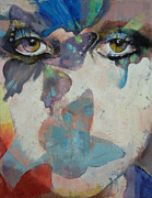 Surrealist Portrait Prints - Gothic Butterflies Print by Michael Creese