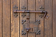 Medieval Castle Photos - Gothic castle gate lock by Lusoimages  