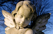Seraph Prints - Gothic Cherub Statue Print by Glenn McGloughlin