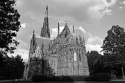 Telfer Prints - Gothic Church In Black and White Print by John Telfer