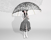 Umbrellas Digital Art - Gothic Doll by Liam Liberty