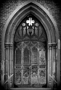 Stone Entrance Framed Prints - Gothic Door 1 Framed Print by Bill Keiran