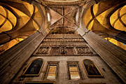 Vaults Metal Prints - Gothic Interior of Seville Cathedral in Spain Metal Print by Artur Bogacki
