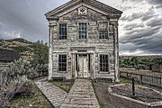 Masonic Framed Prints - GOTHIC LODGE and SCHOOL  - BANNACK MONTANA GHOST TOWN Framed Print by Daniel Hagerman