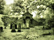 Mount Hope Cemetery Prints - Gothic Mausoleum Print by Gothicolors And Crows