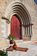 Medieval Temple Photo Prints - Gothic Portal Print by Jose Elias - Sofia Pereira