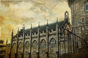 Royal Chapel Photos - Gothic Revival Chapel. Dublin Castle. Streets of Dublin. Gothic Collection by Jenny Rainbow