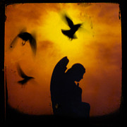 Fluttering Digital Art - Gothic Silhouette by Gothicolors And Crows