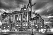 Boston Ma Framed Prints - Gothic South Station Framed Print by Dominic Stringer