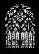 Tracery Framed Prints - Gothic stain-glass window Framed Print by Jose Elias - Sofia Pereira