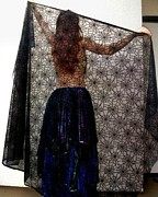 Dance Tapestries - Textiles - Gothic style veil for dance. Model Sofia by Ameynra Fashion