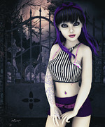 Goth Girl Digital Art - Gothic Temptation by Jutta Maria Pusl
