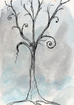 Gloomy Prints - Gothic Tree Print by Jacquie Gouveia