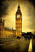 Artography Metal Prints - Gothic Westminster - Big Ben Metal Print by Mark E Tisdale