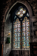 Curtain Digital Art Prints - Gothic Window Print by Adrian Evans