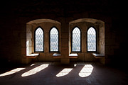 Backlit Prints - Gothic windows of the Royal Residence in the Leiria Castle Print by Jose Elias - Sofia Pereira