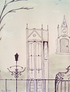 Architectural Design Pastels - Gothic Winter by Christine Corretti