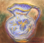 Pottery Pitcher Pastels Prints - Gouda  Pitcher Print by Catherine Sprague