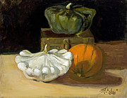 Gourds Paintings - Gourds a Plenty by Billie J Colson