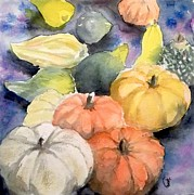 Gourds Paintings - Gourds by Yoshiko Mishina