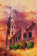 Architecture  Drawings Paintings - Government College Lahore by Catf