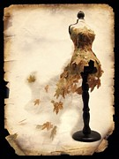 Ball Gown Metal Prints - Gown of leaves Metal Print by Christina Perry