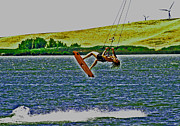 Wind Surfing Art Acrylic Prints - Gr8 Lift Acrylic Print by Joseph Coulombe