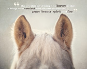 Quotation Photo Prints - Grace and Beauty Print by Lisa Russo