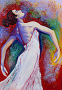 Dancer Mixed Media Prints - Grace Print by Claudia Fuenzalida Johns