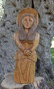 Olive Wood Sculpture Posters - Grace  Poster by Eric Kempson