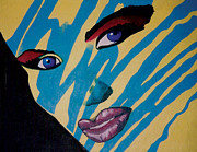 Monotone Pastels Prints - Grace Jones Cover Reproduction Print by Mike Manzi